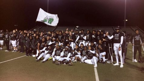 Eagles pose with the Area Championship trophy