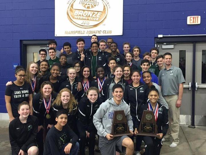 The LRHS Swim Team after District.