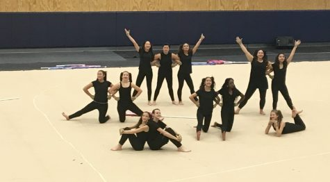 LR JV Winterguard prepares for competition