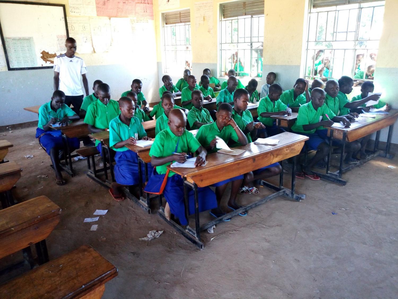 Students in Uganda partnered with Lake Ridge AVID students to exchange letters.