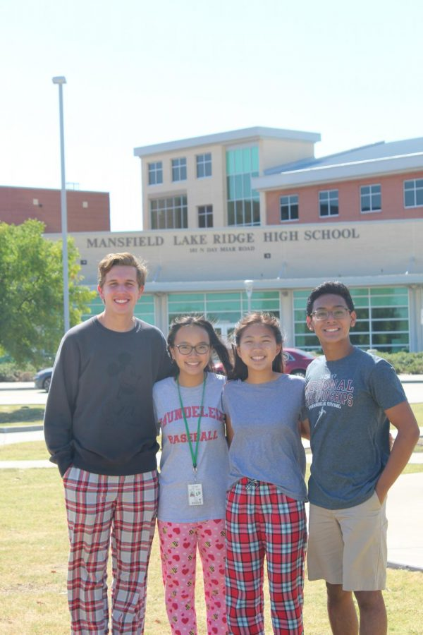 Lake Ridge's very own National Merit Semifinalsts are (from left to right) Chace Moncrief, Vivian Nguyen, Ashley Chuong, and Aaron Libed