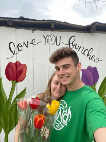 Jakob Conrad and his girlfriend, Kassidy, went to Poston Gardens to pick tulips before the lockdown started.