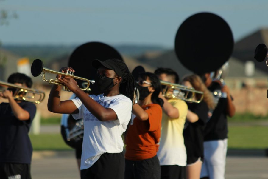 Band has enforced new precautions, so that they are able to practice safely.