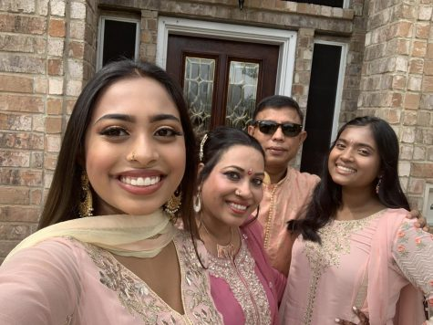 Neva Khan embraces her culture as she celebrates with her family.