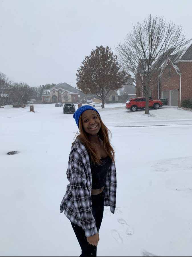 Freshman, Sydney Tamo, like many Lake Ridge students endured a forced-shut down to the historic winter storm.