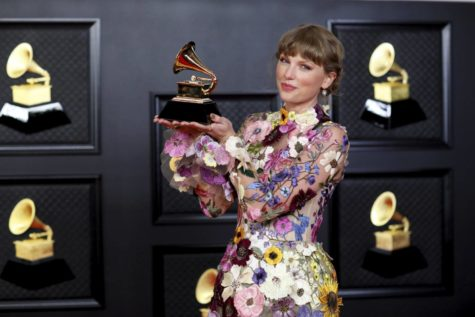 Taylor Swift won Album of the Year for her album, Folklore, at the 63rd Annual Grammy