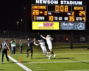 Winning play at black out game VS. Desoto