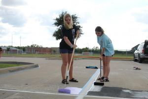 Lake Ridge's first year allowing painted parking spots!